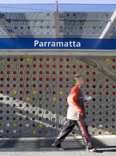 Parramatta Station Wall