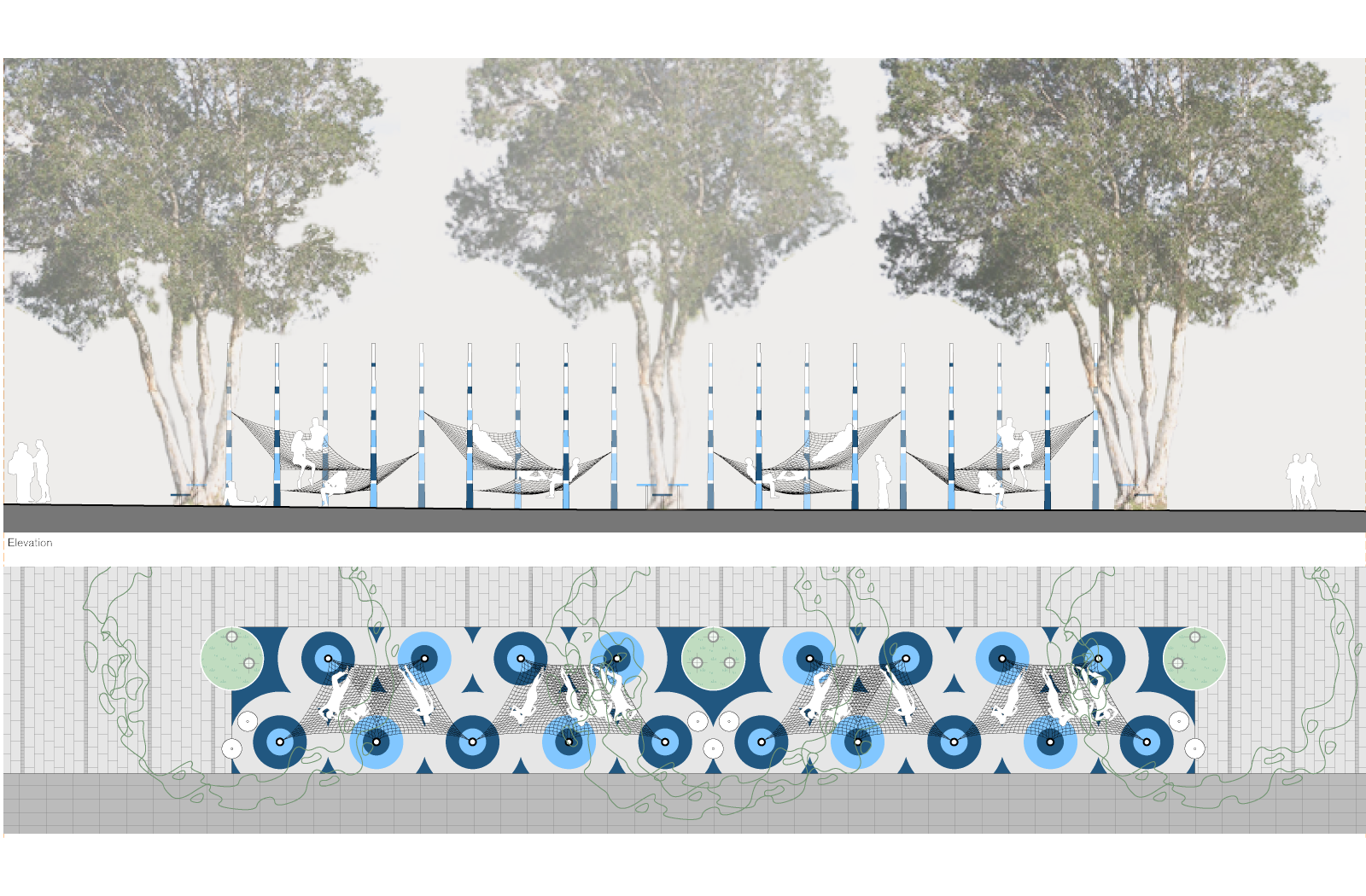 Alumni Park seating- a UNSW public domain project by McGregor Westlake Architecture