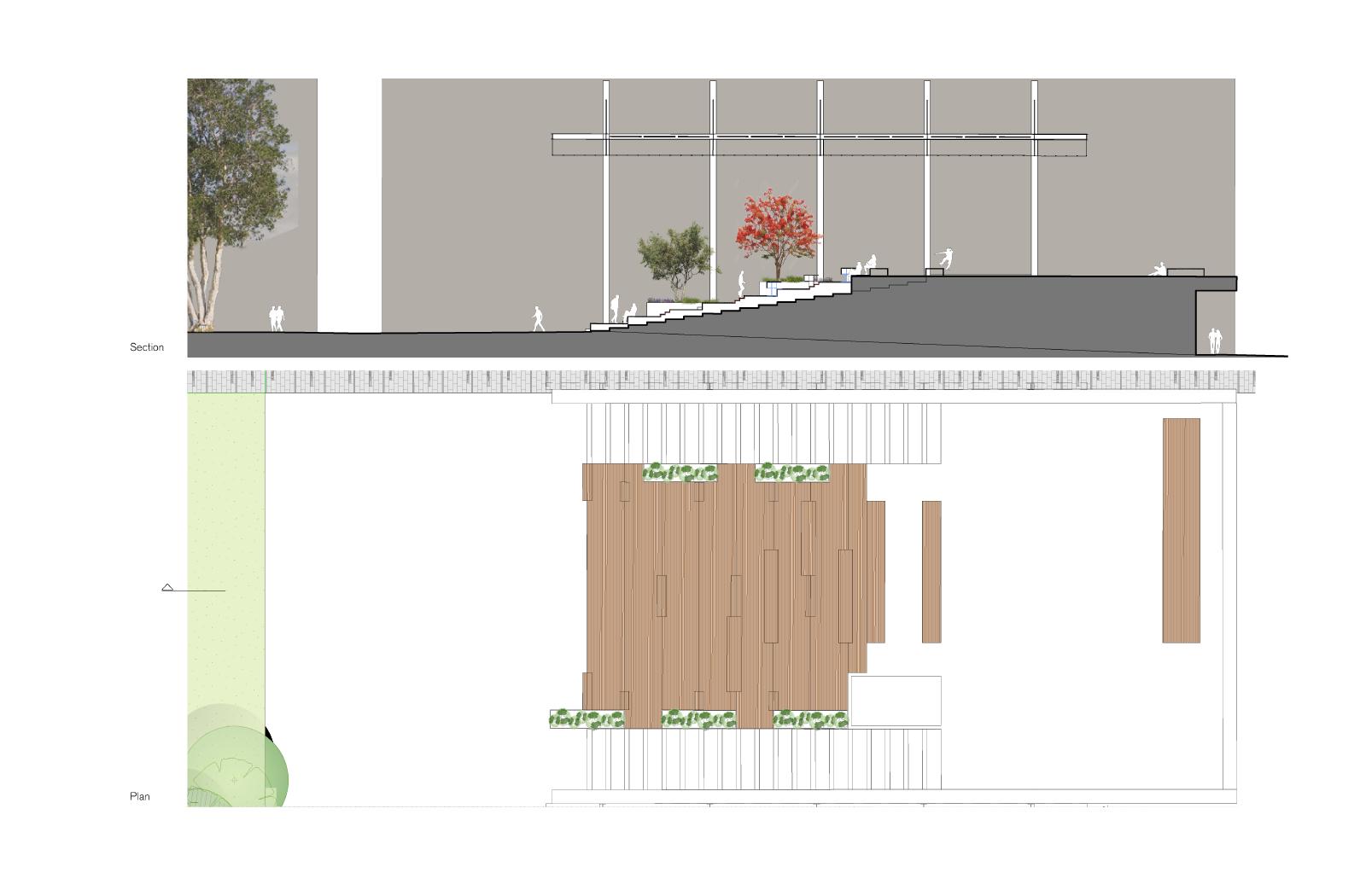 Alumni Park tribune- a UNSW public domain project by McGregor Westlake Architecture