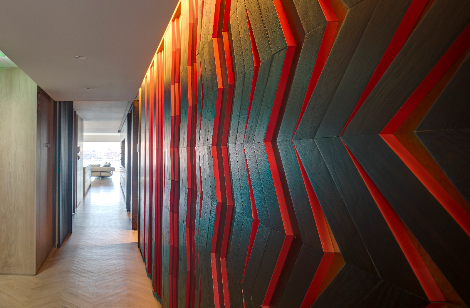Kirribilli Apartment art wall- an interior fit-out project by McGregor Westlake Architecture
