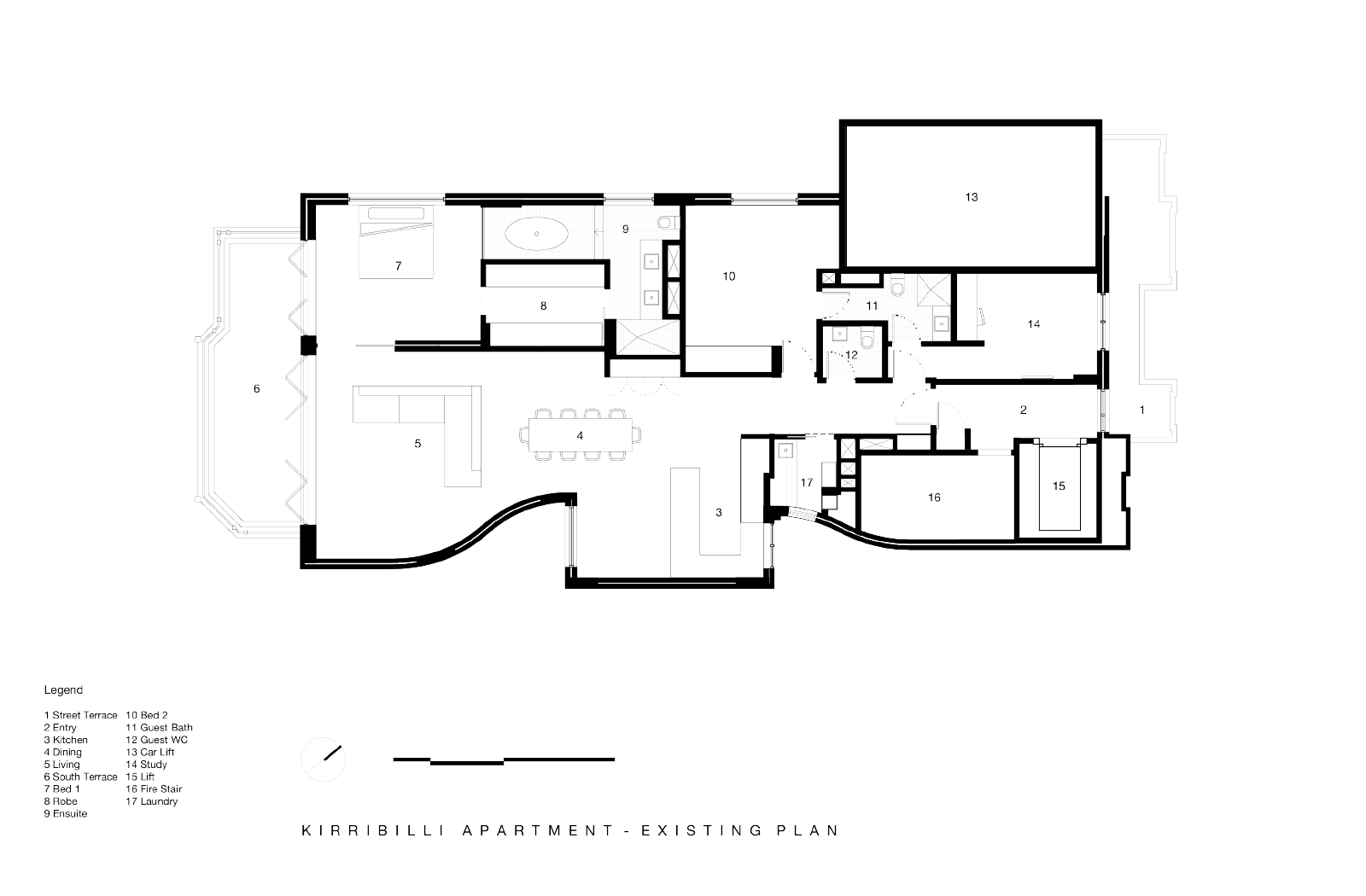 Kirribilli Apartment plan- an interior fit-out project by McGregor Westlake Architecture