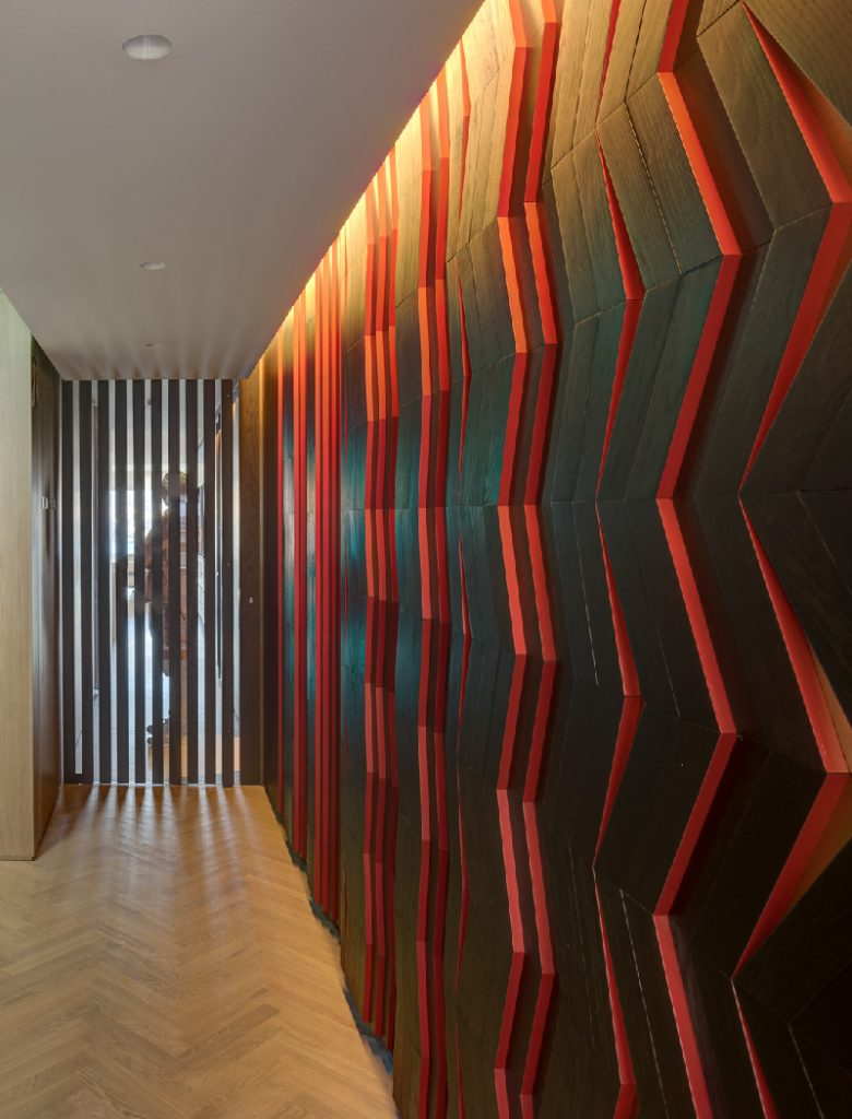 Kirribilli Apartment entry- an interior fit-out project by McGregor Westlake Architecture