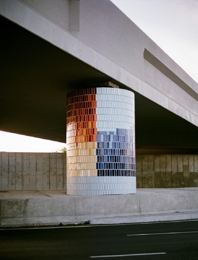 Mascot Rail Bridge - art and infrastructure by McGregor Westlake Architecture