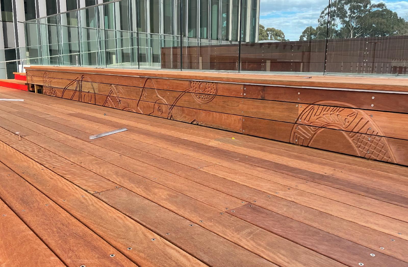 Alumni Park Tribune in construction by McGregor Westlake Architecture